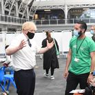 Boris Johnson at the Business Design Centre in Upper Street, where he urged everyone to get vaccinated