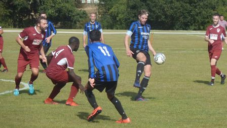 Ash Kersey on the ball for Letchworth Eagles.
