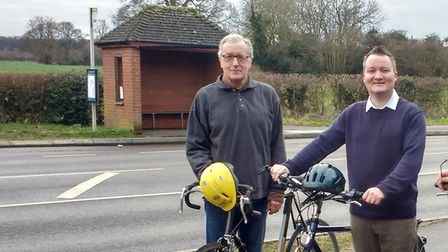 South Norfolk District councillor Phil Hardy and Adrian Dearnley who representsHethersett,