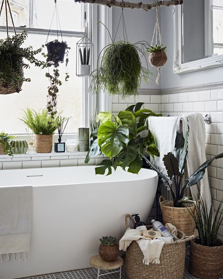 What's not to like about a botanical bathroom?