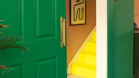 Emma Merry's yellow staircase.