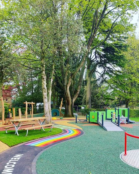The new playground at Clarence Park.