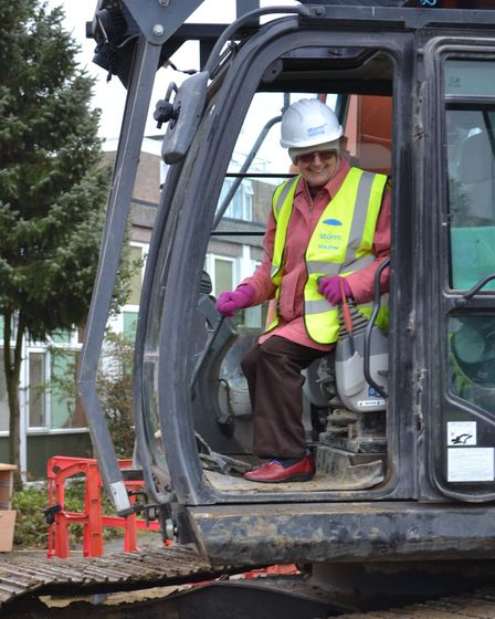 Mick Furr knocking down the old Westmill Community Centre