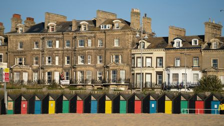 The south beach and Esplanade in Lowestoft.