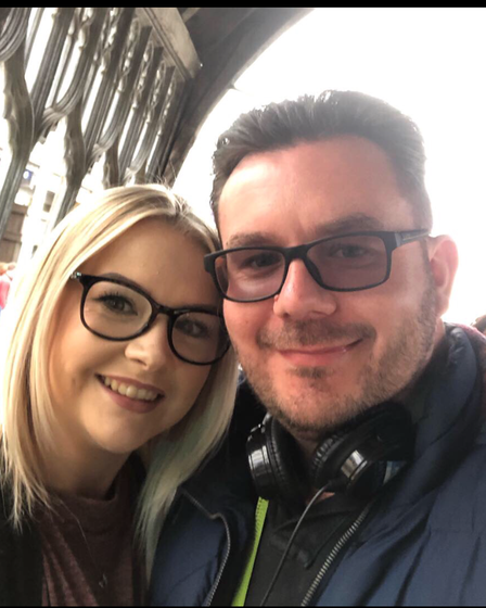 Melissa Ross and Lee Cann