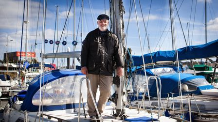 Olle Nash from Ipswich isn't letting bowel cancer stop him from sailing around Britain