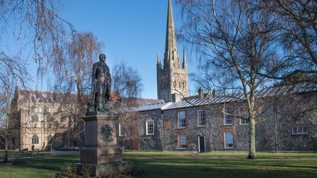 Cathedral Close in Norwich has more than 120 historic properties.
