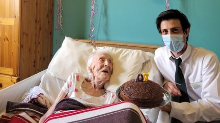 Warren care home resident Gwendoline Moore turned 107 on May 12.