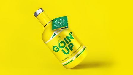 The new lemon gin created to celebrate Norwich City's promotion.