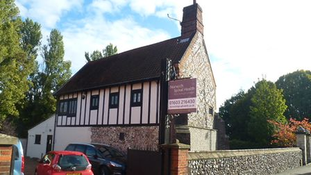 The 16th century building on Heigham Street, Norwich, which used to be home to the Dolphin pub until 1999.
