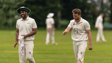 Hitchin Cricket Club and Ickleford CC in action