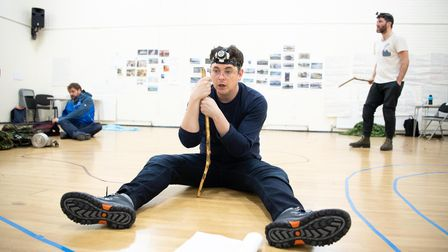 Rehearsal picture Neville's Island Hornchurch theatre