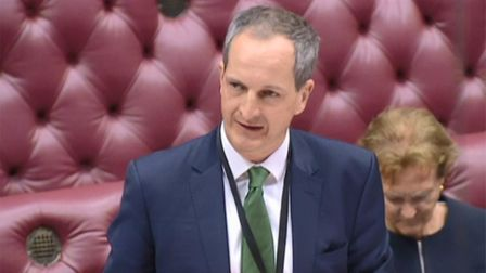 Tory health minister Lord Bethell in the House of Lords. Photograph: Parliament TV.
