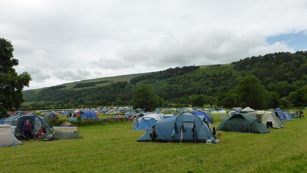 A file picture of a pop-up camp site from a previous summer