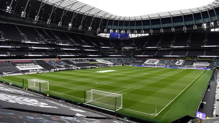 General view from inside the ground before the Premier League match at the Tottenham Hotspur Stadium