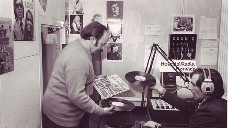 Norfolk and Norwich hospital radio, 23rd of December, 1975. Picture: Archant Library