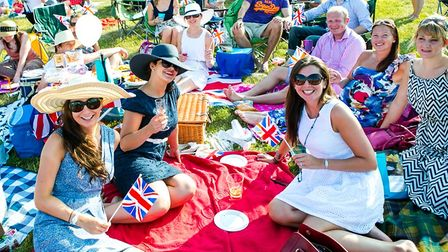 Picnickers at Battle Proms, Hatfield House