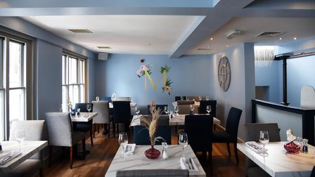 The upstairs dining room at The Moloko, a brand new tapas bar and restaurant in Ipswich