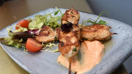 Glazed chicken skewers at The Moloko in Ipswich