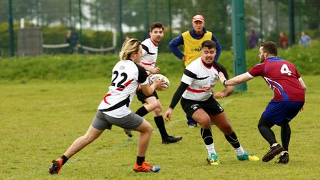 Royston touch rugby team in action in their tournament