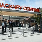 A CGI image of the planned new entrance at Hackney Central's overground station.