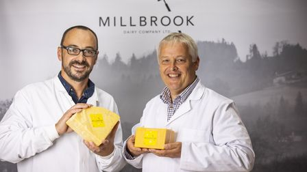 Millbrook Dairy Company founders Kevin Beer and David Evans