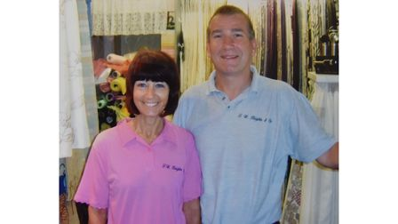Scenes from yesteryear - Wendy and Eric Moore at F.W. Knights in Lowestoft, which is set to close at the end of May.