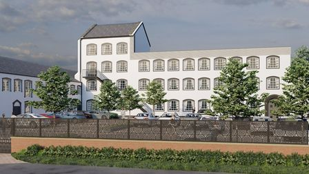 An artist's impression of the plans for Barnstaple's Laceworks factory