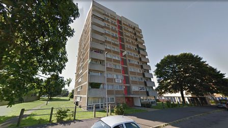 The man tried to evade police via a balcony before seeking refuge in a bedroom cupboard
