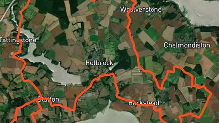 This is the route around the Shotley Peninsula that tractor driverswill take for East Anglian Air Ambulance