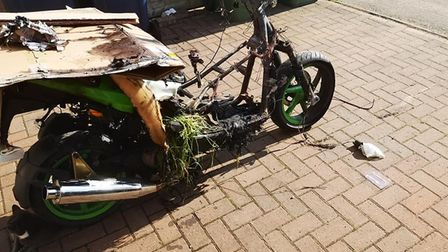 Dream bike stolen from a Wisbech driveway and found a short while later burnt out.