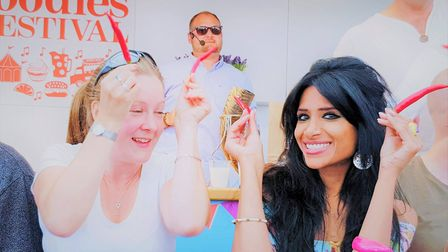 Shahina 'Chilli Queen'Waseem at a Foodies Festival.
