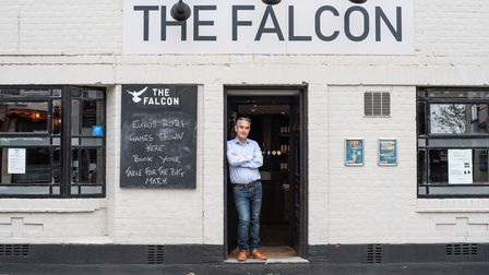 The Falcon in Ipswich has reopened and manager Graham Hunter is looking forward to welcoming back hi