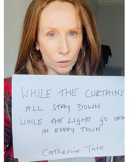 Catherine Tate supporting the fundraiser