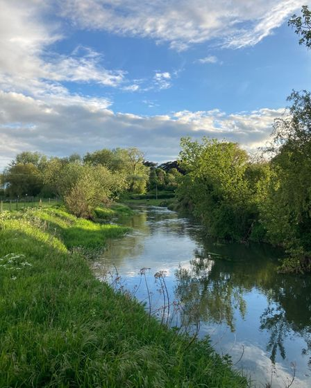 Clare Dale took this photo while she was out walking in Blunham.