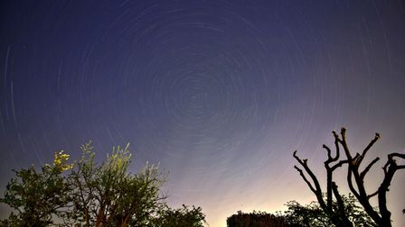 Ian Morrison captured this star trail in the sky overEaton Socon.