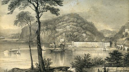 Lithograph of Torquay Harbour by Edward Vivian
