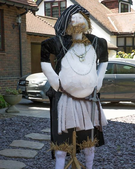 A scarecrow version of Henry VIII