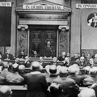 Richard Coudenhove-Kalergi opens the inaugural session of the Pan-American Congress in Vienna in May 1934