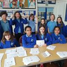 Year 6 pupils at New End Primary in Hampstead