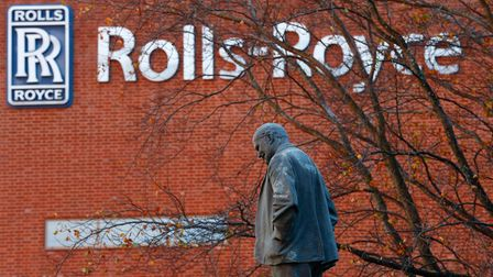 2CYT79F A statue of Henry Royce stands outside Rolls-Royce in Derby, central England , November 4, 2