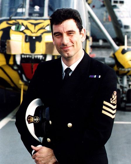 Huntingdon mayor, Karl Webb served in the Royal Navy for 25 years.