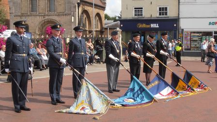 A service to remember the armed forces on Huntingdon Market Square.