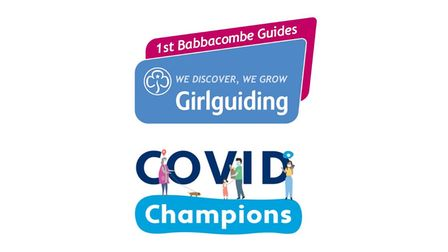 The 1st Babbacombe Guidesare working towards a new Covid Champions' badge