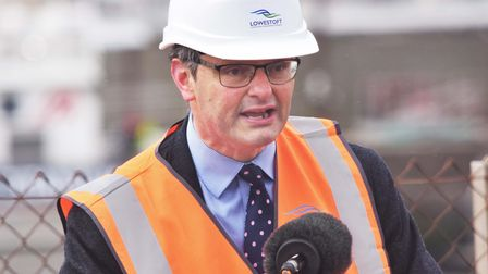 A speech from Waveney MP Peter Aldous at the start of construction works to reduce the risk of flooding in Lowestoft.