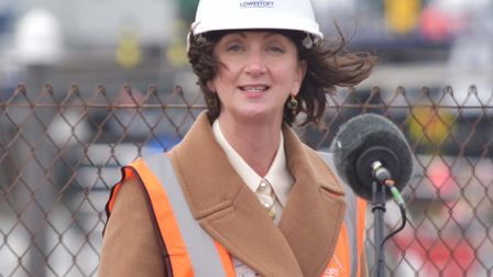 A speech from C-J Green at the start of construction works to reduce the risk of flooding in Lowestoft.