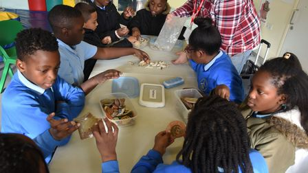 Children taking part in the Newham Heritage Week.