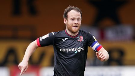 New Stevenage FC signing Jake Taylor in action for Exeter City