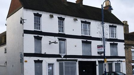 The Old Falcon in St Neots is one of six regeneration projects that will receive funding.