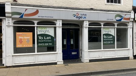 The former Age UK shop in Ipswich on Upper Brook Street